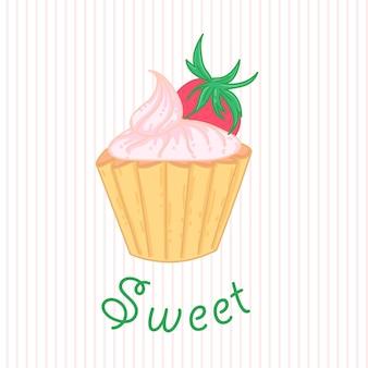 Ciasto truskawkowy słodki deser