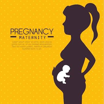 Ciąża i macierzyństwo infograhiczne