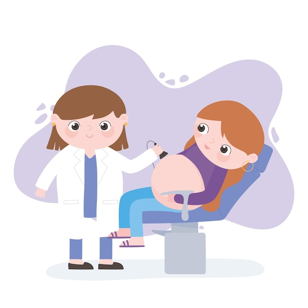 Ciąża i macierzyństwo, kobieta w ciąży i lekarz wykonujący usg
