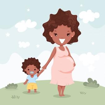 Ciąży i córka chłopca