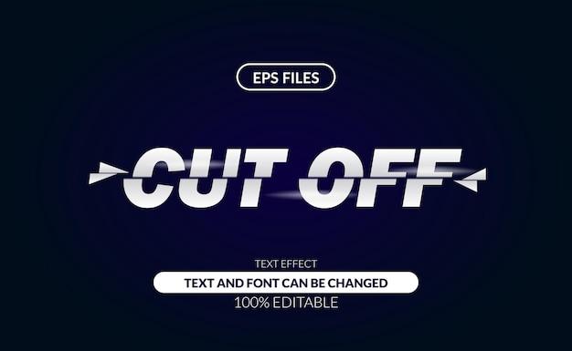 Cięcie na plasterki odcina edytowalny efekt tekstowy.