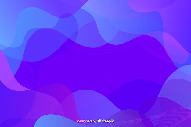 Ciecz kształtuje tło kolorowe