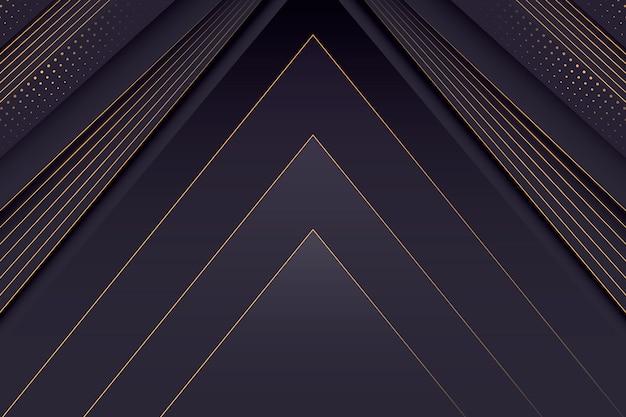 Ciemna gradientowa abstrakcyjna tapeta ze złotymi detalami