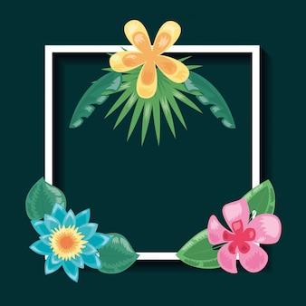 Ciemna ilustracja tropikalny liści