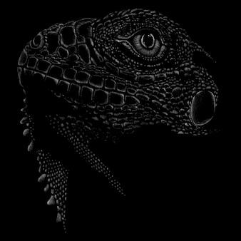 Ciemna jaszczurka ilustracja