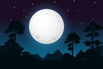 Ciemna noc w pełni księżyca