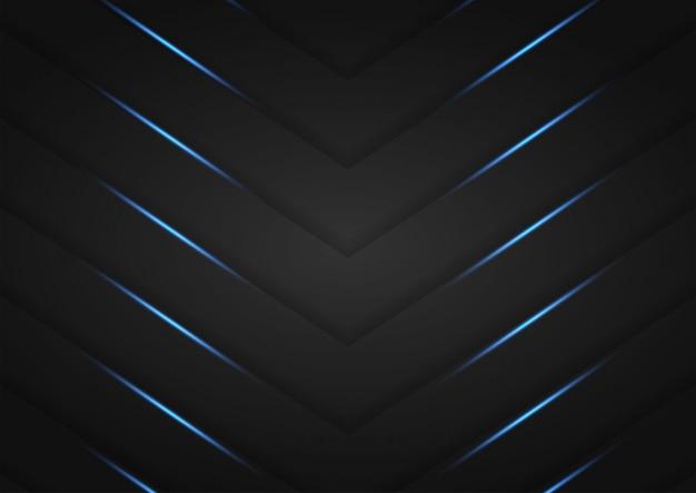 Ciemna warstwa nakładająca się ze srebrnymi błyskami i niebieskim światłem