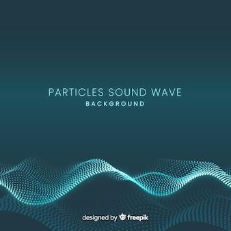 Ciemne cząsteczki dźwięku falują w tle