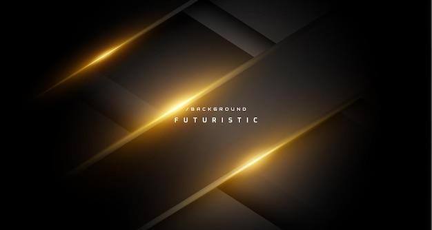 Ciemne futurystyczne złote jasne tło