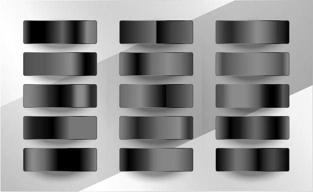 Ciemne i czarne próbki gradientu w matowym wykończeniu