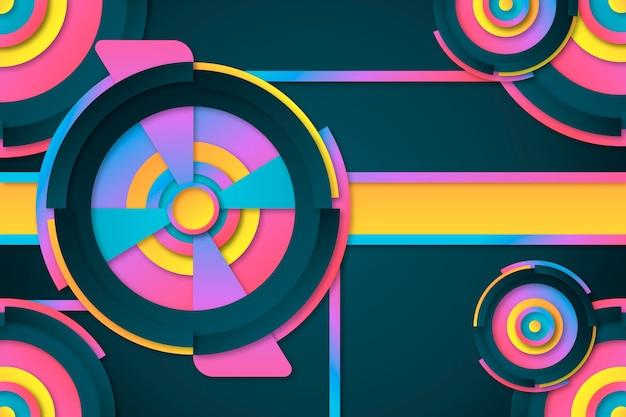 Ciemne kolorowe tło geometryczne gradientu