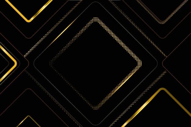 Ciemne luksusowe tło ze złotymi detalami