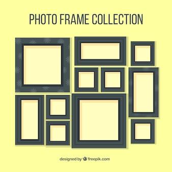 Ciemne ramki na zdjęcia kolekcji