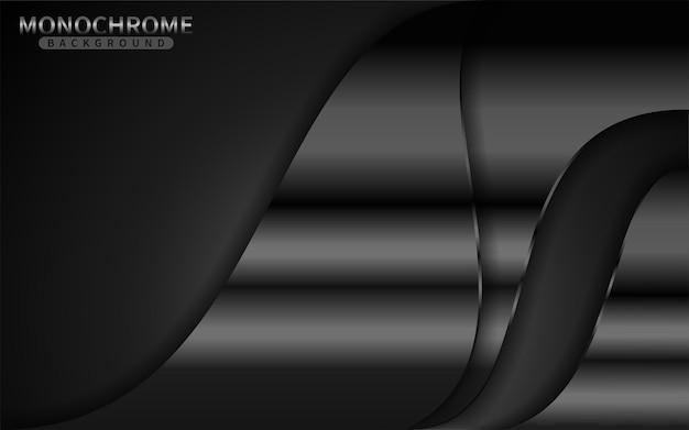 Ciemne tło monochromatyczne z kombinacją linii shinny. element projektu graficznego.