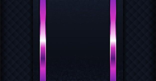 Ciemne tło nakłada się na warstwy fioletową linią