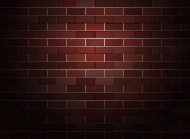 Ciemne tło ściany z cegły.