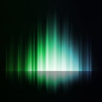 Ciemne tło z błyszczącymi liniami światła
