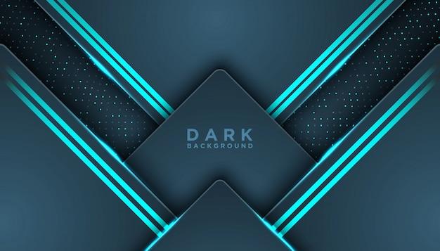 Ciemne tło z ciemnoniebieskimi zakładkami