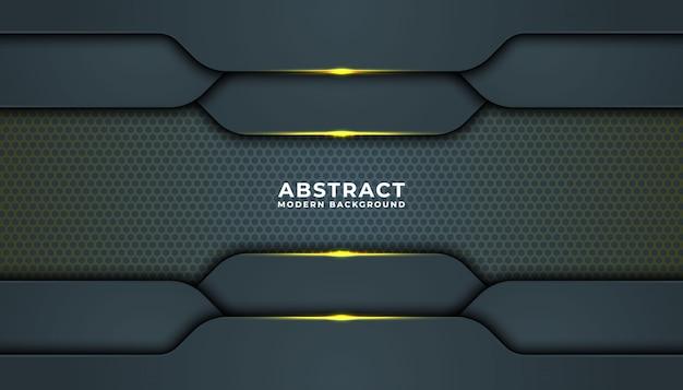 Ciemne tło z czarnymi nakładającymi się warstwami. tekstura ze złotym efektem. luksusowa koncepcja projektowania.