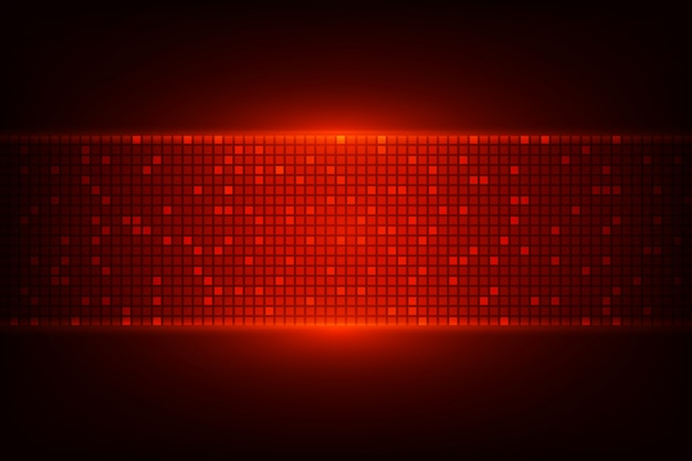 Ciemne tło z czerwonymi światłami