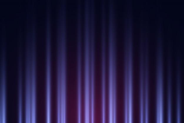 Ciemne tło z fioletowymi i fioletowymi światłami neonowymi.