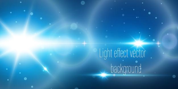 Ciemne tło z liniami i reflektorami, światło neonowe, widok nocny. streszczenie niebieskim tle.