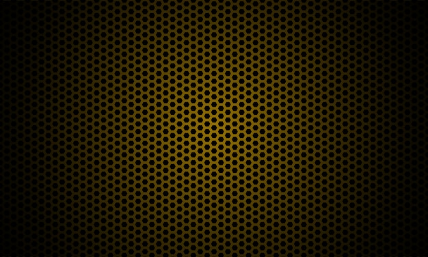 Ciemne złoto. ciemna sześciokątna tekstura włókna węglowego.
