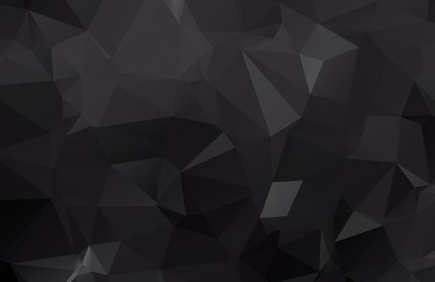 Ciemno czarna ilustracja wielokątna, która składa się z trójkątów. geometryczne tło w stylu origami z gradientem. trójkątny projekt dla twojej firmy.