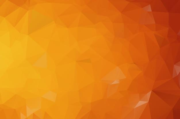 Ciemno pomarańczowa ilustracja wielokątna, która składa się z trójkątów. geometryczne tło w stylu origami z gradientem. trójkątny projekt dla twojej firmy.