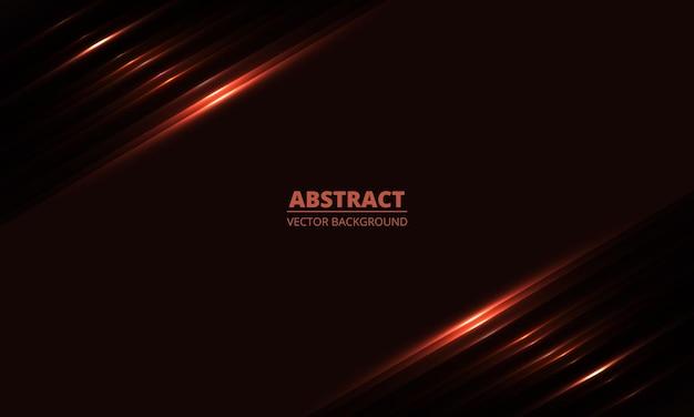 Ciemnoczerwone tło geometryczne z ukośnymi świecącymi czerwonymi liniami światła i cieniami