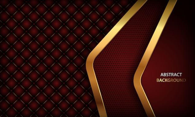 Ciemnoczerwone tło ze złotym elementem i realistyczną skórą zapinaną na guziki