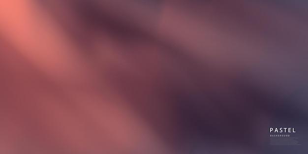 Ciemnofioletowa pastelowa abstrakcja na pomarańczowym tle z gradientową brązową mgiełką