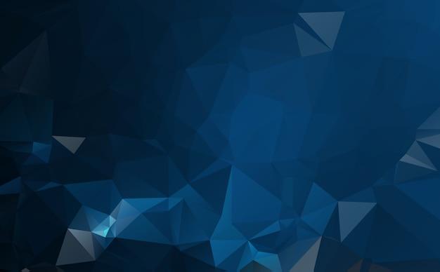 Ciemnoniebieska ilustracja wielokątna, składająca się z trójkątów. geometryczne tło w stylu origami z gradientem. trójkątny projekt dla twojej firmy.