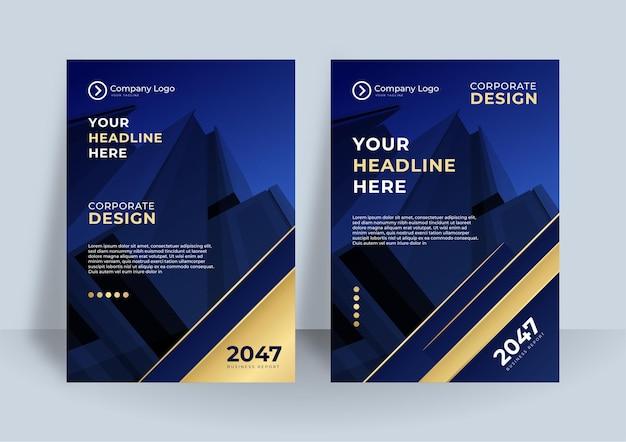Ciemnoniebieski okładka tożsamości korporacyjnej biznes wektor projekt, ulotki broszura reklama streszczenie tło, ulotka nowoczesny plakat szablon układu magazynu, roczny raport do prezentacji