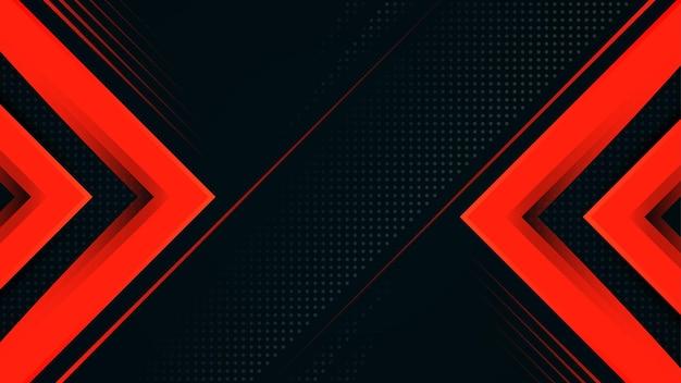 Ciemnoniebieskie i czerwone luksusowe linie ukośne nowoczesny design tło wektor