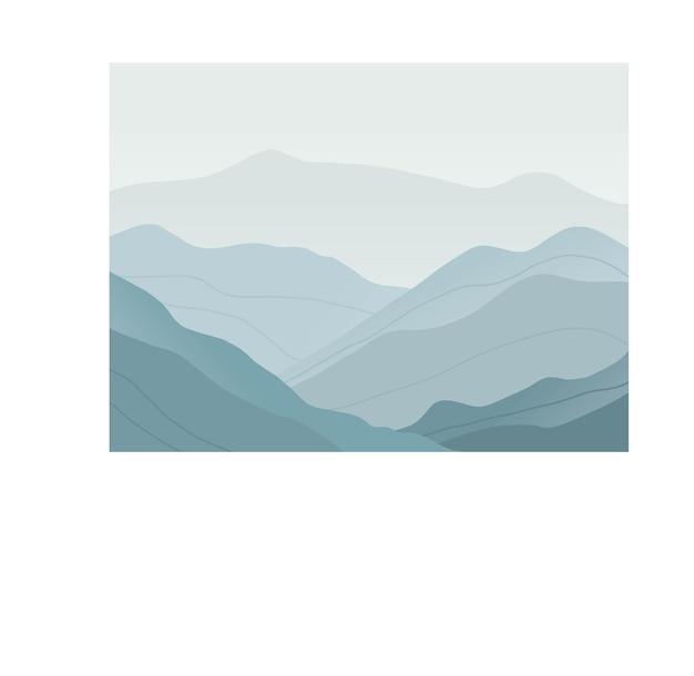 Ciemnoniebieskie odcienie górski krajobraz w tle