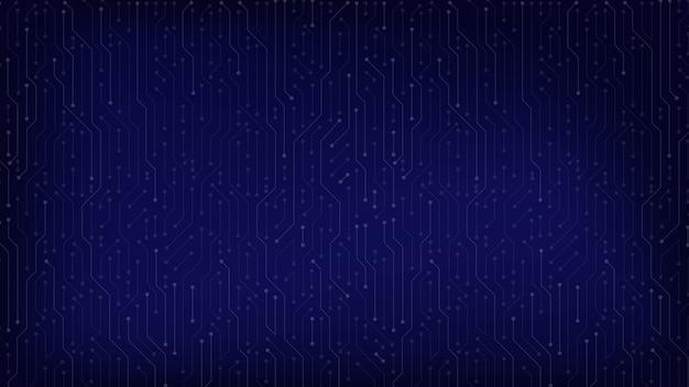 Ciemnoniebieskie tło obwodu dla rozmiaru ekranu strony internetowej technologii