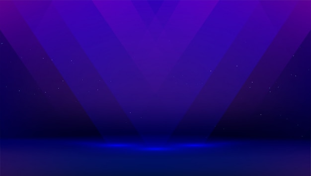 Ciemnoniebieskie tło z promieniami światła. pusty pokój, prezentacja produktu. czarna scena do pokazywania i wyświetlania przedmiotu reklamowego.