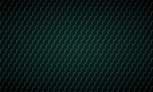 Ciemnozielony sześciokąt z włókna węglowego tekstura zielony plaster miodu metal tekstura tło stalowe