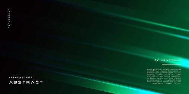 Ciemny 3d elegancki zielony geometryczne tło okładki
