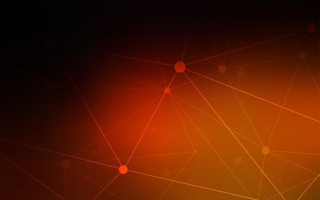 Ciemny czerwony tło z kropek i linii