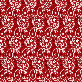 Ciemny czerwony wzór paisley bandana