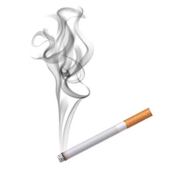 Ciemny dym papierosowy