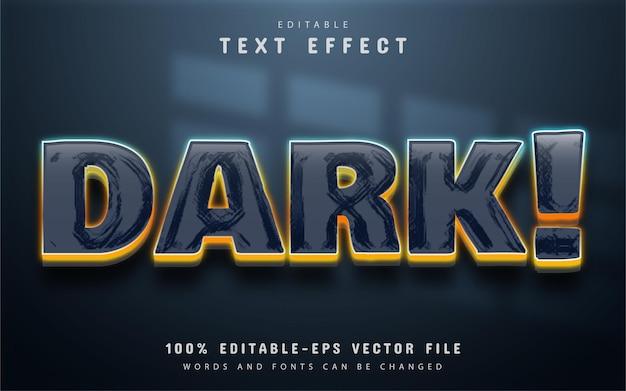 Ciemny efekt tekstu 3d