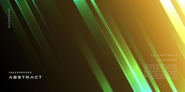 Ciemny elegancki geometryczne tło złotym światłem