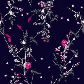Ciemny kwiatowy wzór