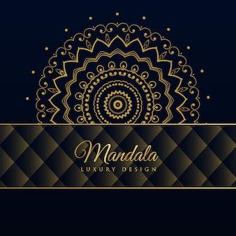Ciemny luksusowy mandali wzór tła