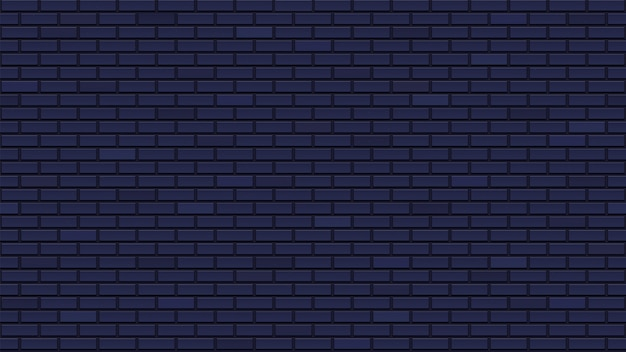 Ciemny mur z cegły bez szwu. świetny szablon wnętrza z niebieskawo-czarnymi klockami. powtarzające się cegły. czysta szczegółowa tekstura.