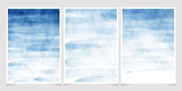 Ciemny niebieski akwarela splash tło wesele zaproszenie karty