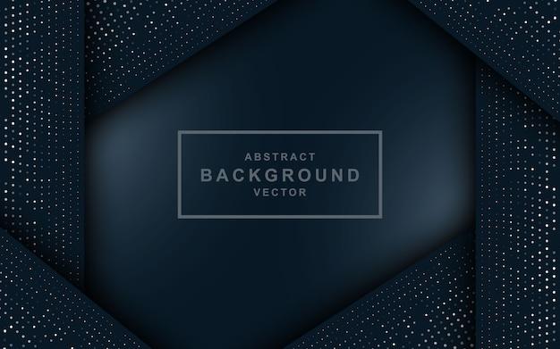 Ciemny niebieski streszczenie tło z czarnymi warstwami nakładania